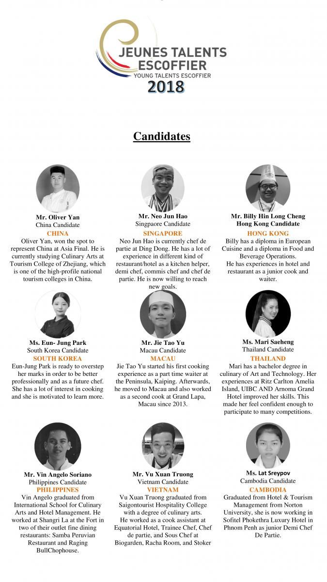 Young Talent Escoffier Asia Finals @ Restaurant and Bar
